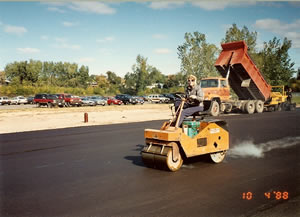 03 Our first used asphalt paver 1978